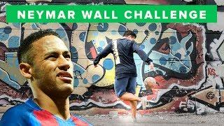 Neymar Wall Challenge | Who's got most football skills?