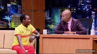 Seifu On EBS TV Show Interview With Athletes Edris Mukitr